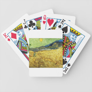 Wheat Fields with Reaper at Sunrise - Van Gogh Bicycle Playing Cards