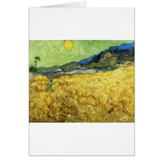 Wheat Fields with Reaper at Sunrise - Van Gogh Card