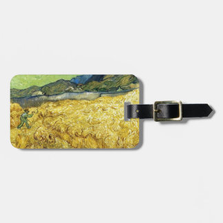 Wheat Fields with Reaper at Sunrise - Van Gogh Luggage Tag