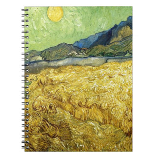 Wheat Fields with Reaper at Sunrise - Van Gogh Note Book