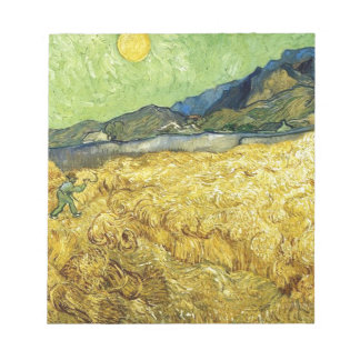 Wheat Fields with Reaper at Sunrise - Van Gogh Notepad