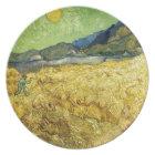 Wheat Fields with Reaper at Sunrise - Van Gogh Plate