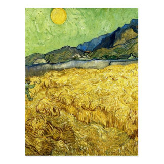Wheat Fields with Reaper at Sunrise - Van Gogh Postcard