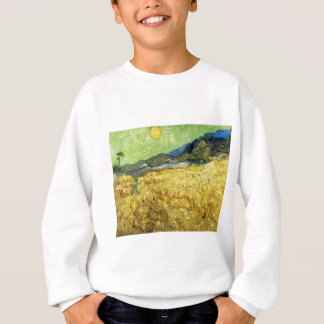 Wheat Fields with Reaper at Sunrise - Van Gogh Sweatshirt
