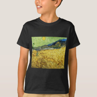 Wheat Fields with Reaper at Sunrise - Van Gogh T-Shirt