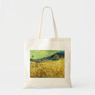 Wheat Fields with Reaper at Sunrise - Van Gogh Tote Bag