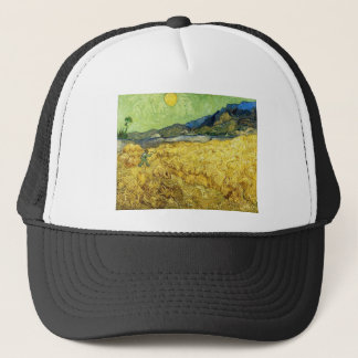 Wheat Fields with Reaper at Sunrise - Van Gogh Trucker Hat