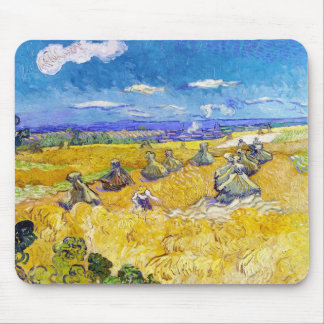 Wheat Fields with Reaper  Van Gogh Vincent Mouse Pad