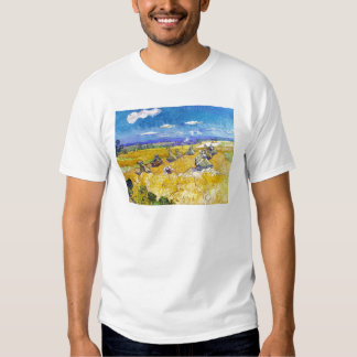 Wheat Fields with Reaper  Van Gogh Vincent T-shirt