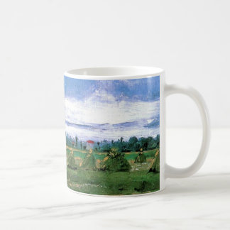 Wheat Fields with Stacks, Vincent van Gogh Coffee Mugs