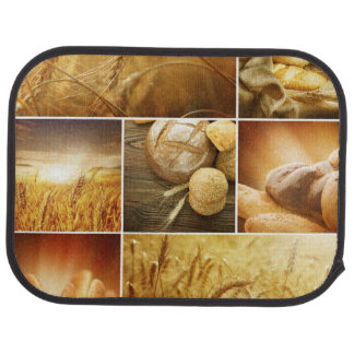 Wheat.Harvest concepts.Cereal collage Floor Mat