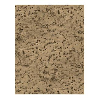 Wheat Natural Cork Bark Look Wood Grain 21.5 Cm X 28 Cm Flyer