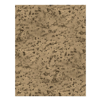 Wheat Natural Cork Bark Look Wood Grain Personalized Flyer