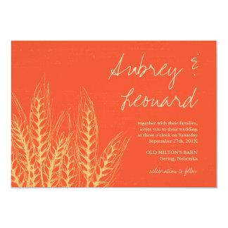Wheat Sheaf Rustic Fall Wedding Invitation