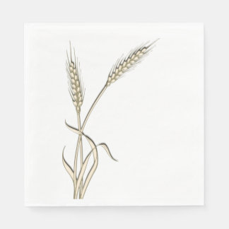 Wheat single grass PERSONALIZE Disposable Serviette