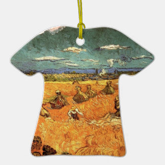 wheat Stacks with Reaper by Vincent van Gogh Ornaments