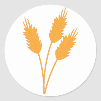 Wheat Stalk Classic Round Sticker