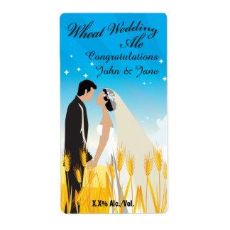 Wheat Wedding Ale Shipping Label