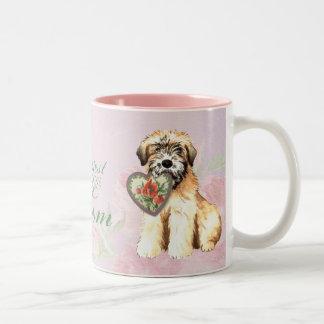 Wheaten Hearts Mom Two-Tone Coffee Mug