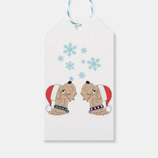 Wheaten Terrier Christmas Wrapping Gift Tags