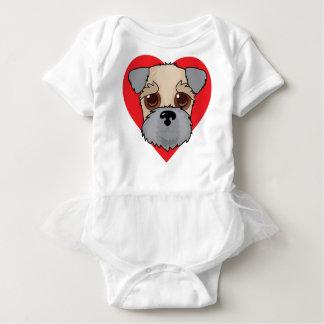Wheaten Terrier Face Baby Bodysuit