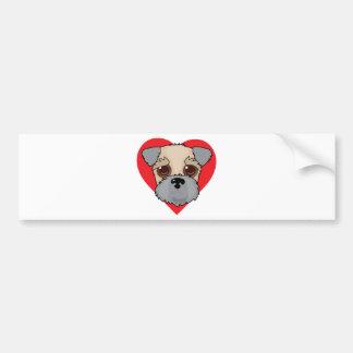 Wheaten Terrier Face Bumper Sticker