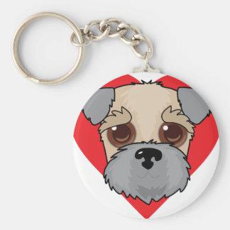 Wheaten Terrier Face Key Ring