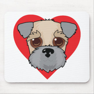 Wheaten Terrier Face Mouse Pad
