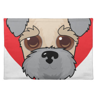 Wheaten Terrier Face Placemat
