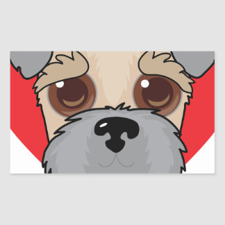 Wheaten Terrier Face Rectangular Sticker