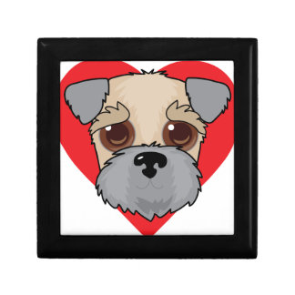 Wheaten Terrier Face Small Square Gift Box