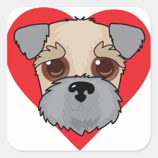 Wheaten Terrier Face Square Sticker