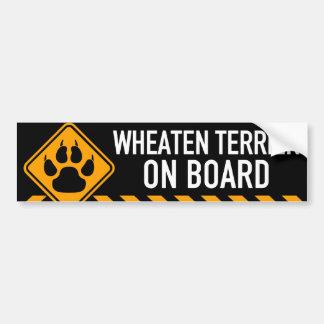 Wheaten Terrier On Board Bumper Sticker