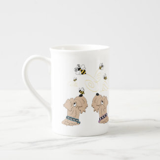 Wheatens and Bees Tea Cup
