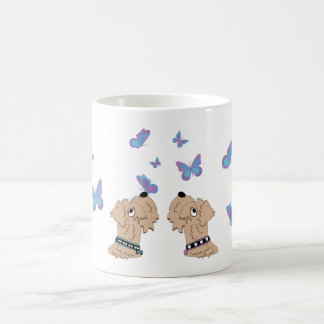 Wheatens and Butterflies Coffee Mug
