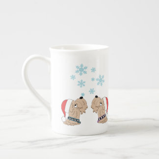 Wheatens and Snowflakes Tea Cup