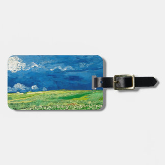 Wheatfield Under Thunderclouds by Vincent van Gogh Bag Tag