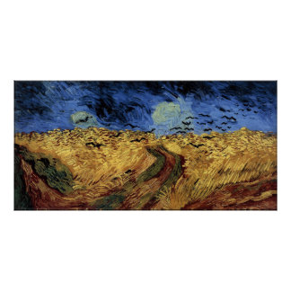 Wheatfield with Crows Poster