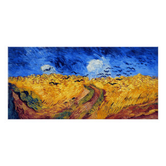 Wheatfield with Crows, Van Gogh Poster