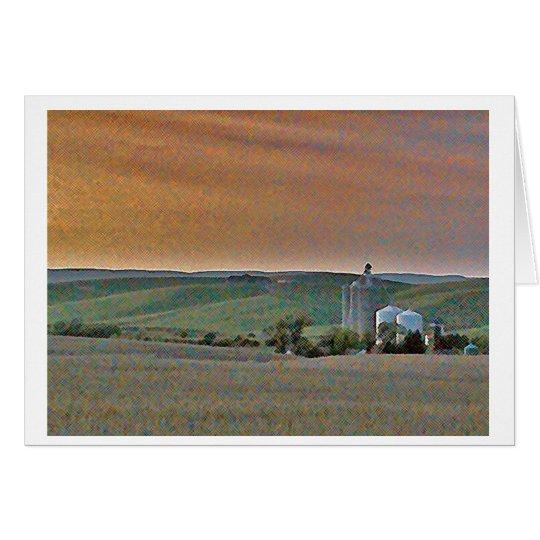Wheatfields Card