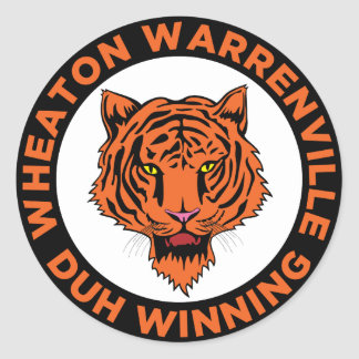 Wheaton Warrenville South High School Round Sticker