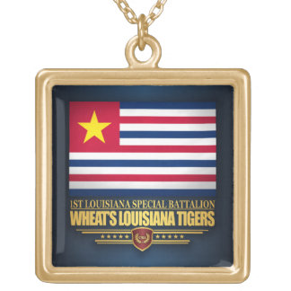 Wheat's Louisiana Tigers Gold Plated Necklace