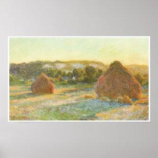 Wheatstacks (End of Summer), 1890-91 Poster