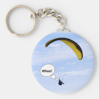 Whee! Paragliding in the Clouds Keychain