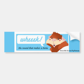 """Wheek!"" Guinea Pig Bumper Sticker"