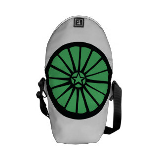 Wheel Backpack Green Messenger Bag