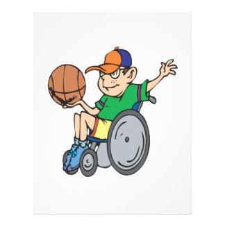 Wheel Chair Basketball Personalized Flyer