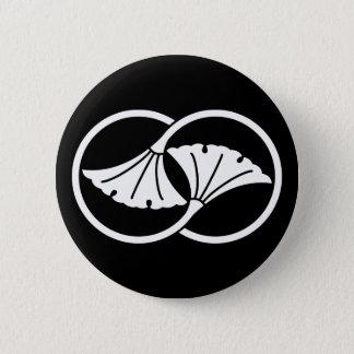 Wheel difference ginkgo 6 cm round badge