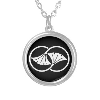 Wheel difference ginkgo silver plated necklace