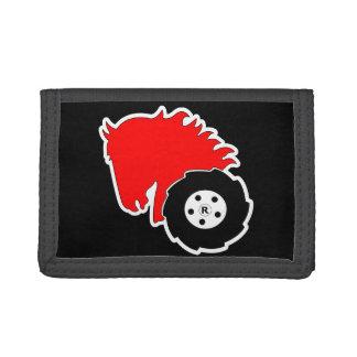 Wheel Horse Nylon Trifold Wallet